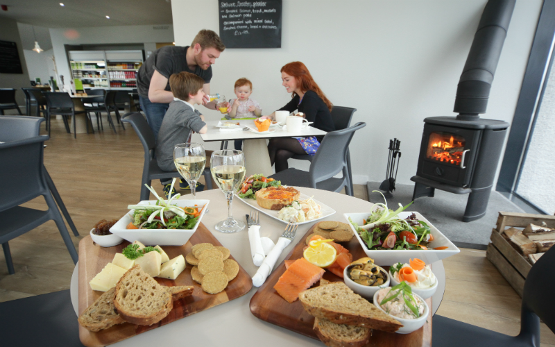 There are a wide range of catering options available
