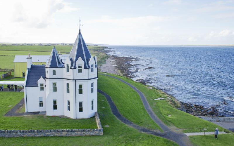 The Inn has stunning views across the Pentland Firth