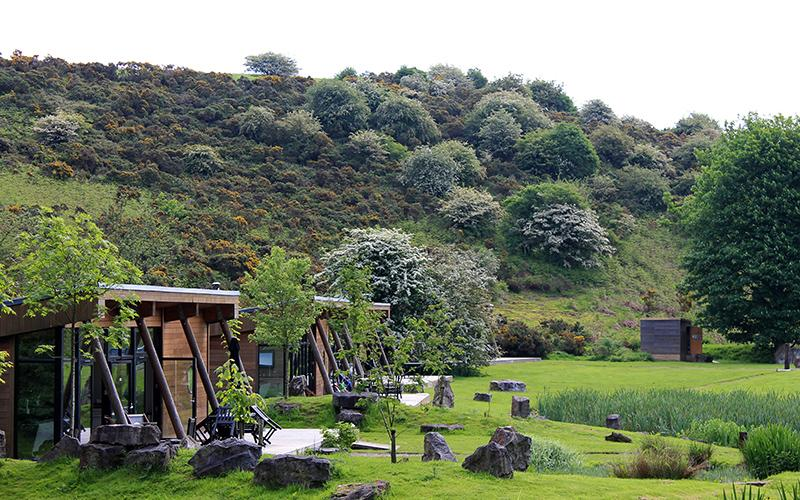 Pond-side family lodges