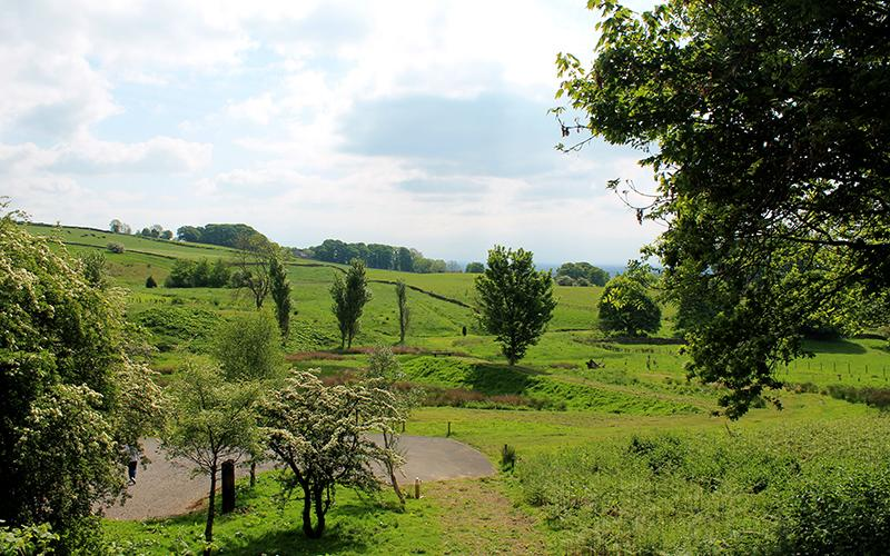 Lush surrounding farmland awaits