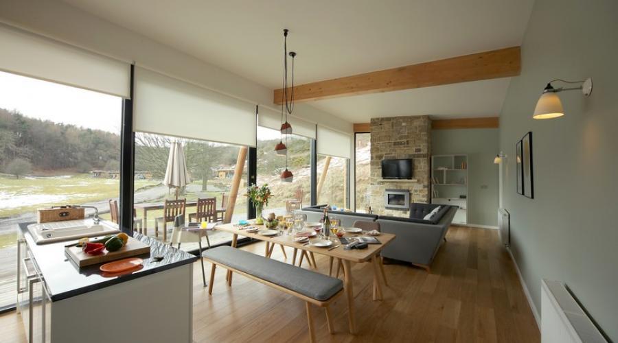En-suite lodge living area